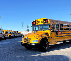 Propane school bus photo courtesy of Livonia Public Schools