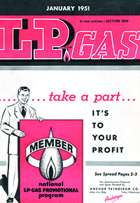 LP Gas cover image from January 1951