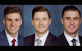 Left to right: John Mickelinc, Michael Tucker, James Mickelinc