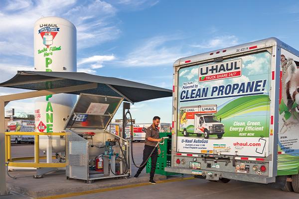 Autogas filling photo courtesy of U-Haul International