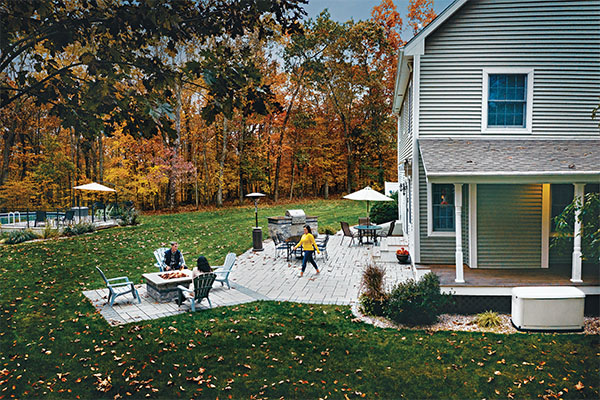 Propane marketers should offer to look at customers' plans for outdoor living spaces and voice any safety concerns. Photo courtesy of propane Education & Research Council