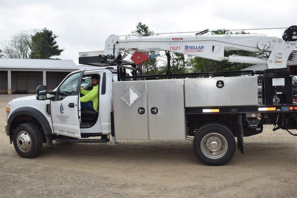 Crane truck photo by LP Gas staff
