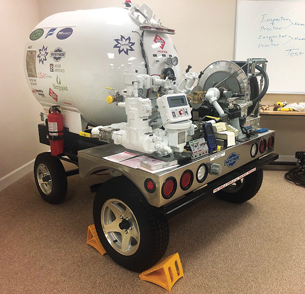 The Propane Marketers Association of Kansas hosts CETP training and uses special props to supplement the sessions. Photo by Greg Noll