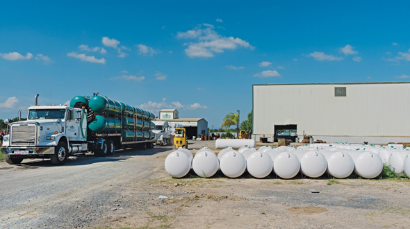 Tank manufacturer Metsa has fielded requests for a more diverse range of tank sizes, particularly more 120-gallon and 250-gallon tanks. Photo courtesy of Metsa