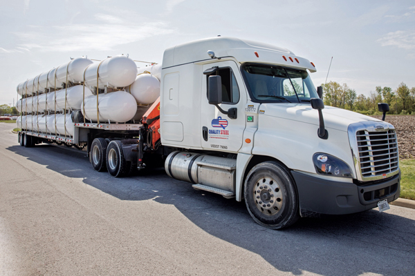 High demand for steel and other commodities has tightened propane tank supplies. Photo Courtesy of Quality Steel Corporation