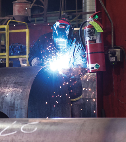 Manufacturers have invested in more capacity and line improvements to increase output. photo courtesy of Quality Steel Corporation