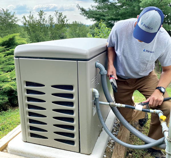 Propane generators are a hot commodity in the Northeast, Paraco Gas says.(Photo courtesy of Paraco Gas)