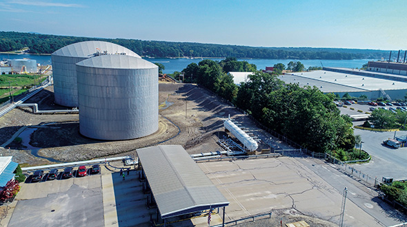 Sea-3 propane terminal port in New Hampshire Photo courtesy of Nearview