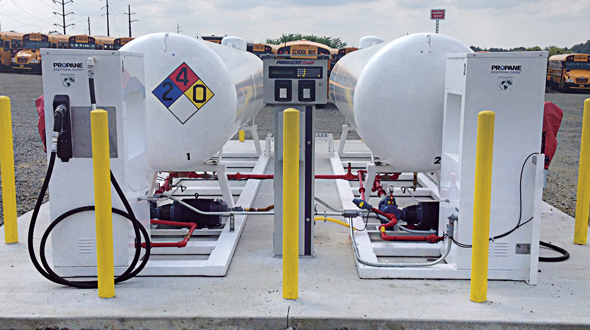 In 2020, more than 1,000 public and private school districts across the U.S. were set to deploy more than 20,000 propane autogas buses. (Photo courtesy of Roush CleanTech)