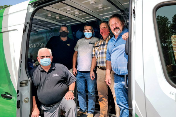 MEC has taken the van to truck-builder open houses, state association meetings and end-user customer locations. Photo courtesy of Marshall Excelsior Co.