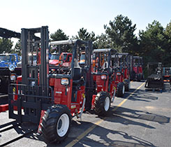Photo of Hiab's Moffett truck-mounted forklifts