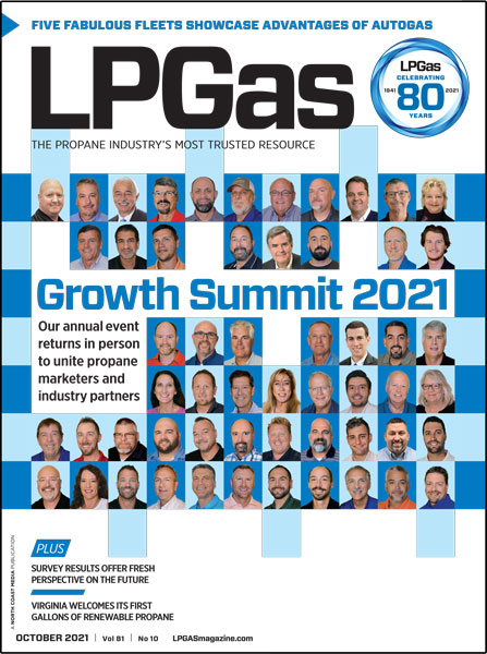 October 2021 Cover Photo: LP Gas staff