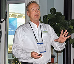 Steve Whaley talks autogas at the 2021 LP Gas Growth Summit. Photo by LP Gas staff