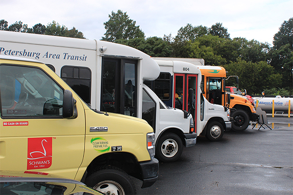 Fleet vehicles photo courtesy of Virginia Clean Cities
