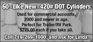 60-Like New- 420#DOT Cylinders