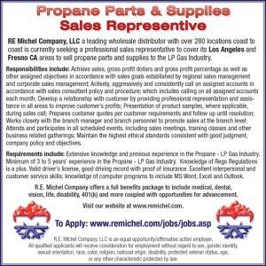 PROPANE PARTS & SUPPLIES SALES REPRESENTATIVE