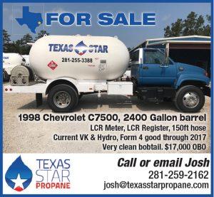 1998 Chevrolet C7500, 2400 Gallon Barrel